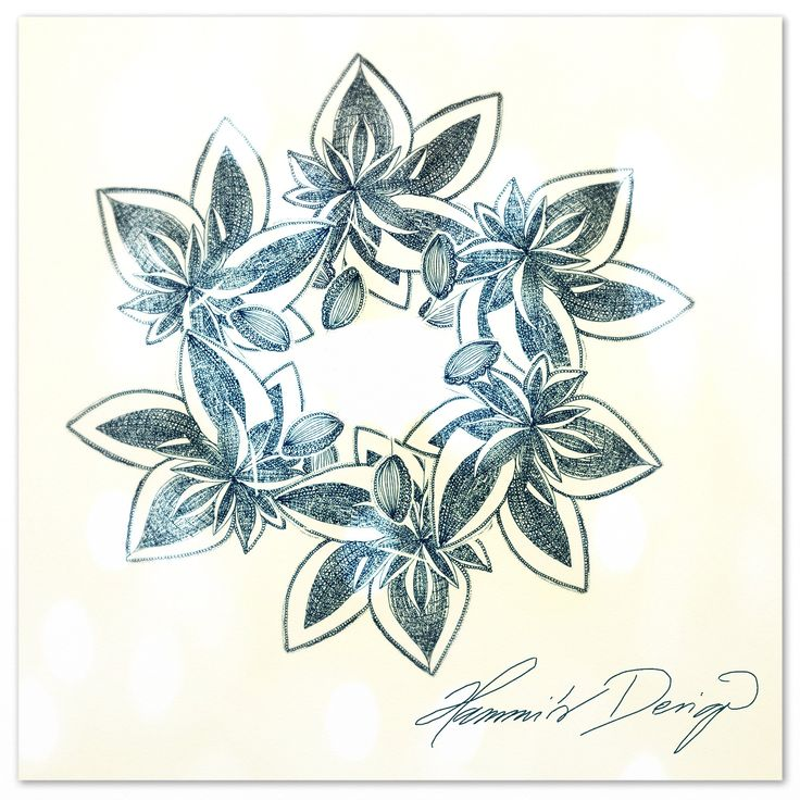 Summer Wreath. Drawing design by Hammi´s Design.