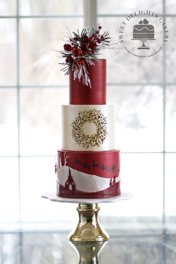 Christmas Spirit by Sweet Delights Cakery - http://cakesdecor.com/cakes/265873-christmas-spirit