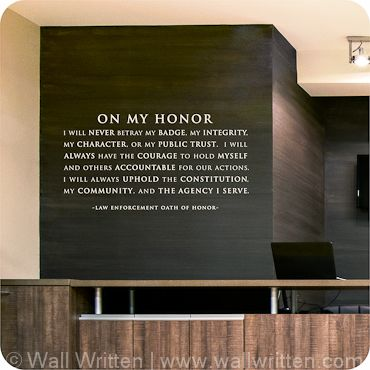 From $20.95, Law Enforcement Oath of Honor
