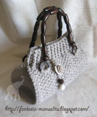 pattern  for crochet bag - modello @ Afshan Shahid