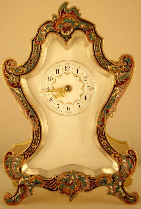 Polished Brass Mantel Clock, French Circa 1900