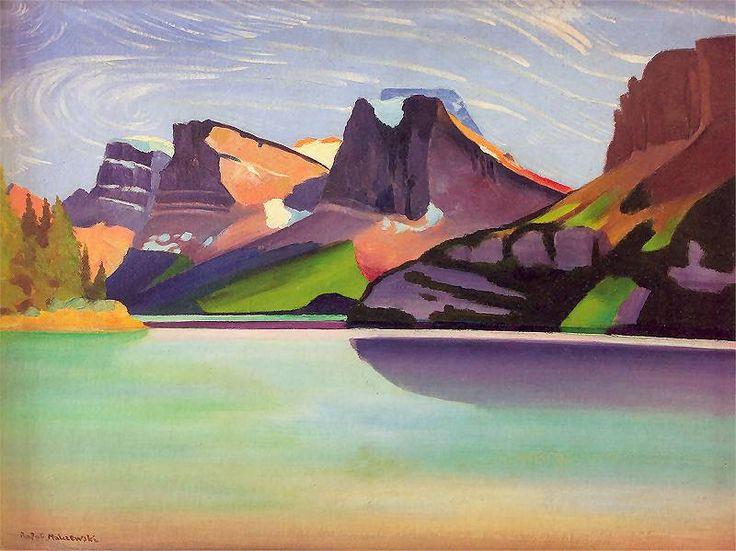 Góry Skaliste -- Rocky Mountains by Rafal Malczewski, 1943