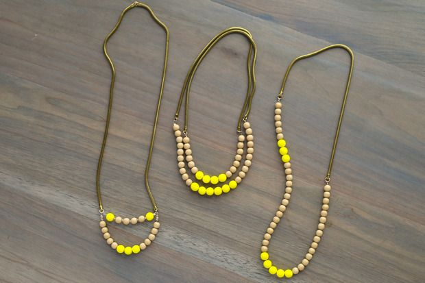 For the Makers: Diy lemon drop necklace