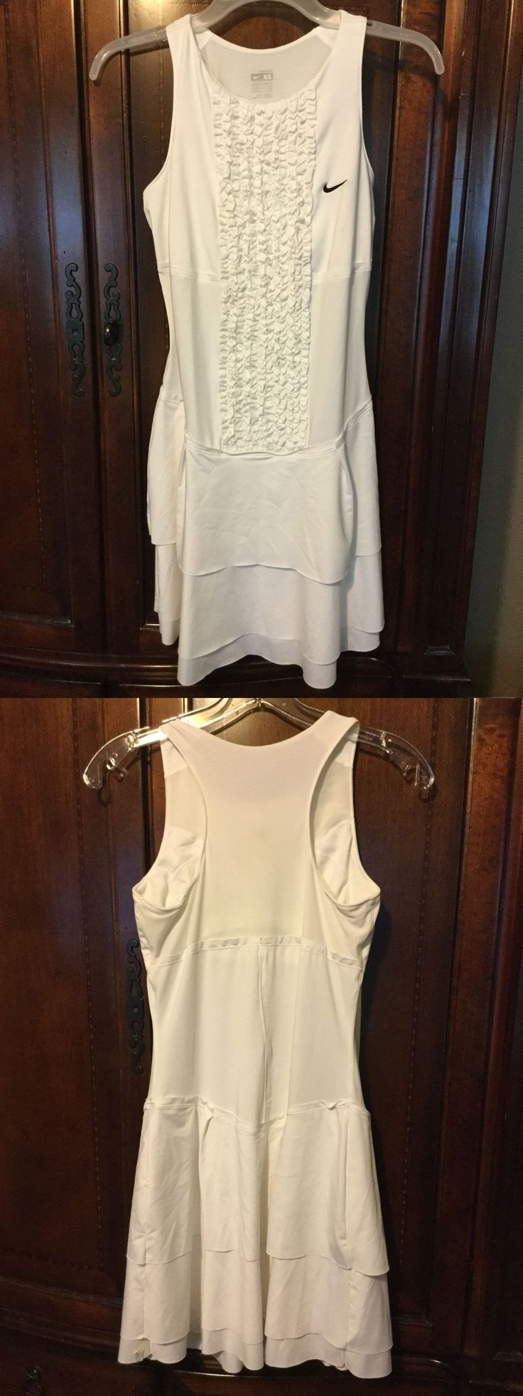 Other Racquet Sport Clothing 70903: New Nike Wimbledon Grass Court Ruffled Tiered Tennis Dress 348334-100 Xs X-Small -> BUY IT NOW ONLY: $49.95 on eBay!