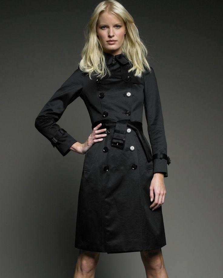 17 best Spectacular Black Trench Coat Women images on Pinterest ...