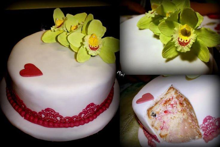 Wedding anniversary's cake