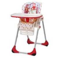 Chaise haute Chicco Polly 2en1 Happy Land en rouge