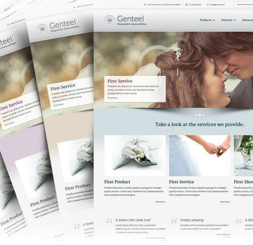 GENTEEL ELEGANCE REDEFINED. A responsive Drupal theme for classy sites with world class products and services. Bundled with Drupal Commerce.  More information:  http://www.morethanthemes.com/?q=themes/genteel