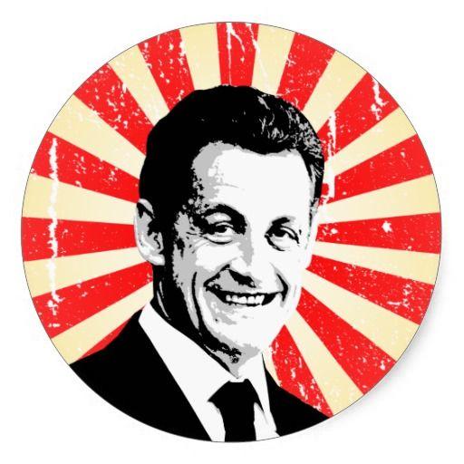 Nicolas Sarkozy Round Sticker