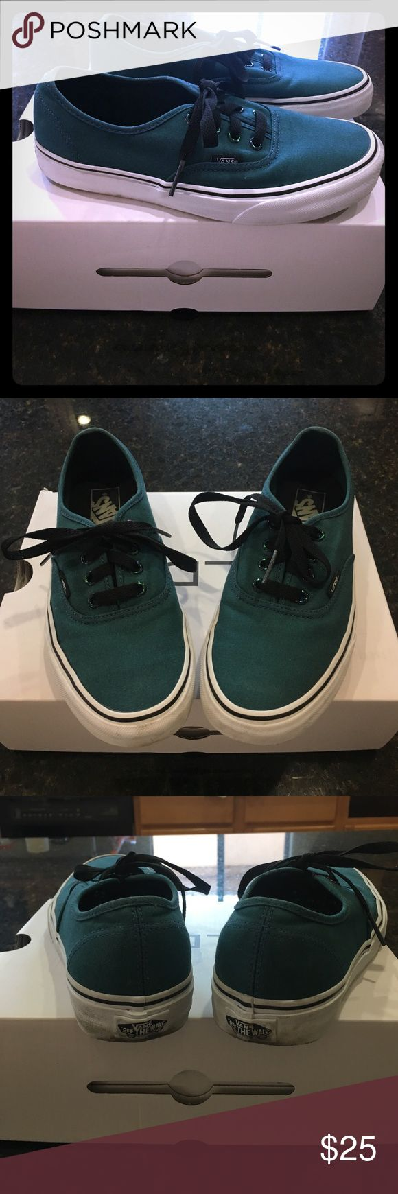 Teal Vans size 6 men 7.5 women Teal Vans size 6 men 7.5 women in excellent condition Vans Shoes Athletic Shoes