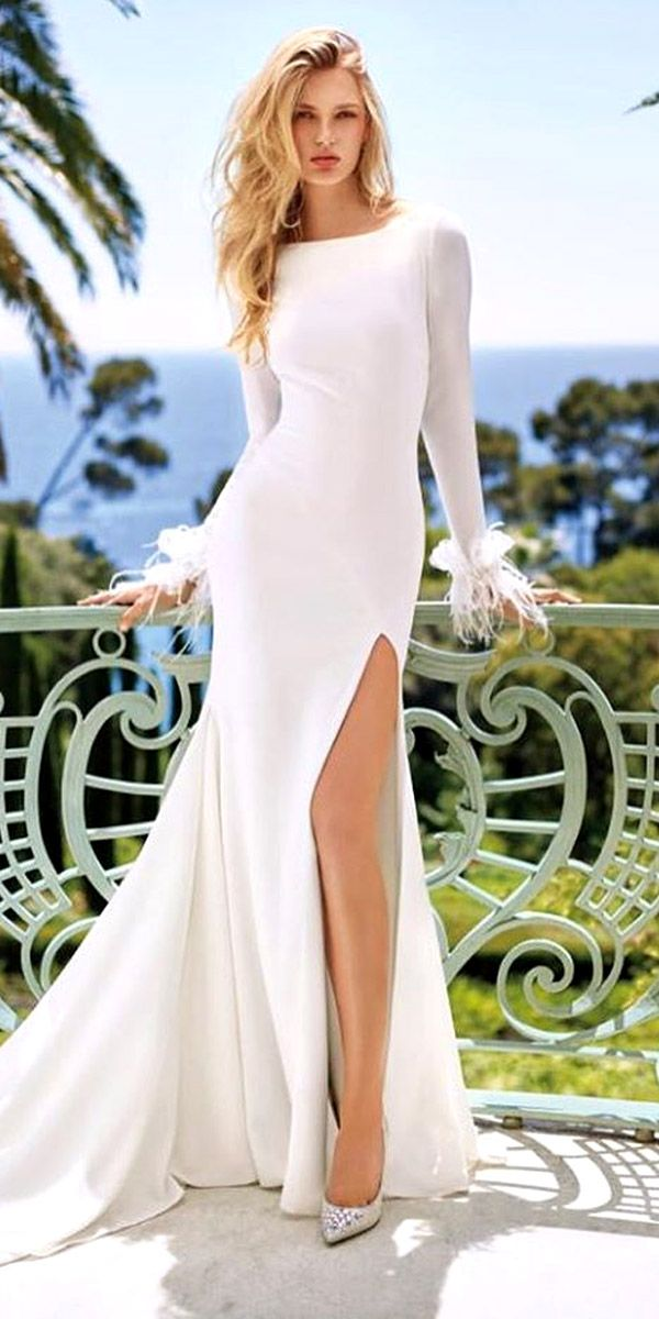 163 best images about wedding gowns with high leg slits on for Top 5 wedding dress designers