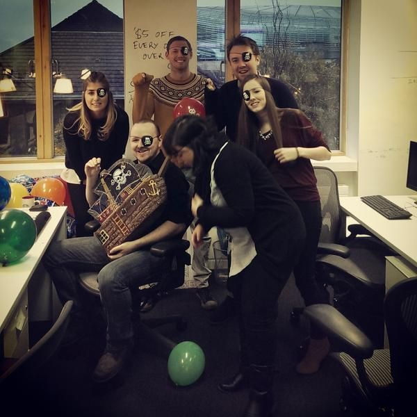 Our Marketing Team surprised Eoin with a pirate themed party to celebrate his 30th birthday! #dinglife #dingpeople