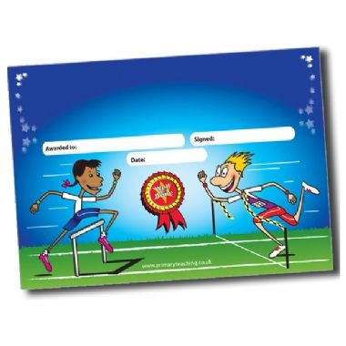 Personalised A5 Sports Day Certificates