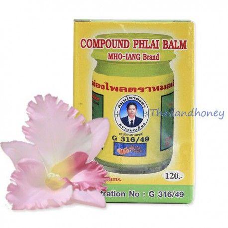 Тайский желтый лечебный бальзам Kongka Herb Compound Phlai Balm MHO-LANG Brand с согревающим эффектом - традиционное тайское средство, с давних времен используемое для снятия болей в суставах, мышцах и других болезненных ощущений.