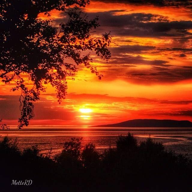 Great sunset at Stokkøya, Trøndelag