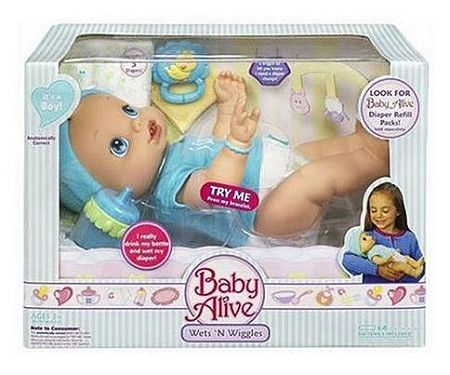 Baby Alive Wets N Wiggles Boy Doll