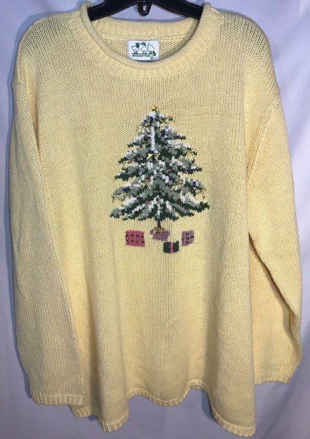 NEW Quacker Factory 2x Plus Size Christmas Sweater xmas Tree QVC  | eBay