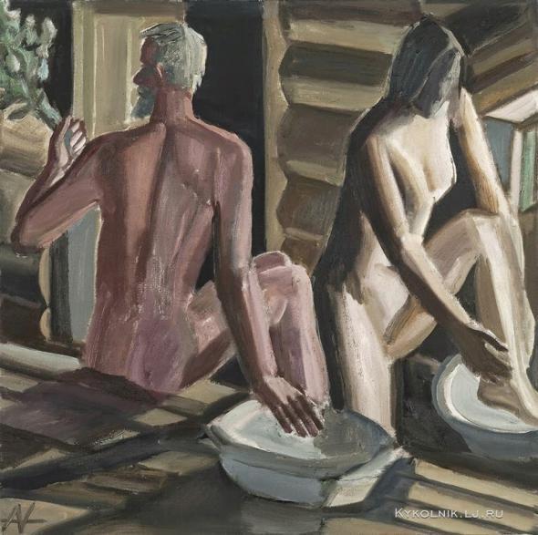 Andronov Nikolai Ivanovich (Russia, 1929-1998) «Bathroom» 1983.