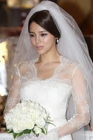 on her wedding day :)