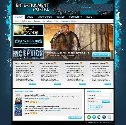 Entertainment Portal Joomla Templates by MariArti