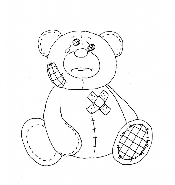 74 best images about bear embroidery patterns on pinterest for Feel better coloring pages