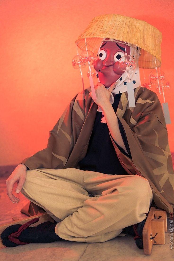 Haganezuka Hotaru Mask Anime Cosplay Mask Traditional Japanese Festival Mask Hyottoko Cosplay Anime Anime Cosplay Props