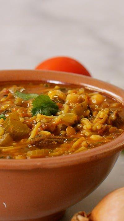 Une soupe super vitaminée et pleine de saveurs d'orient