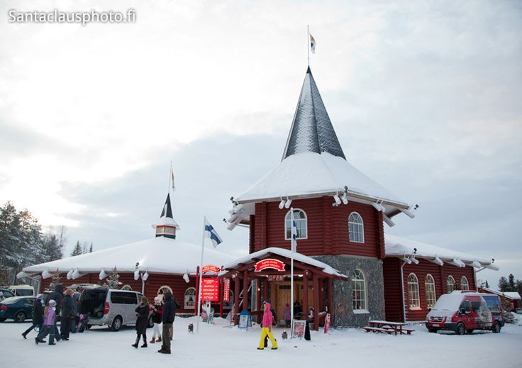 Christmas House in Santa Claus Village in Rovaniemi in Lapland