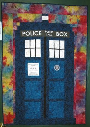 Use my TARDIS quilt pattern to make a quilt for your favorite Doctor Who fan. This wallhanging sized TARDIS will fit in even small spaces.