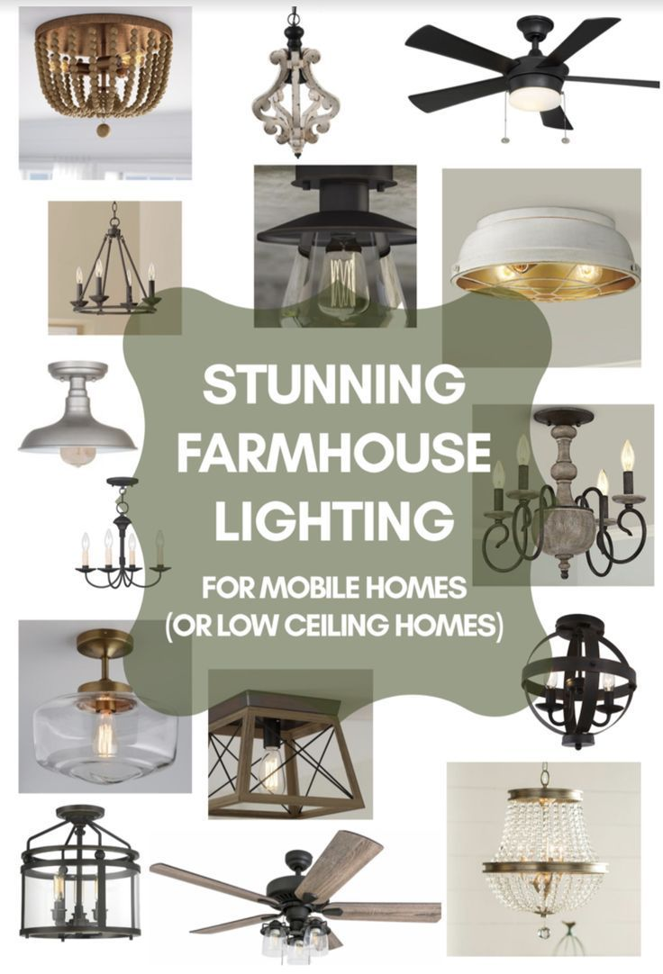 15 Affordable Farmhouse Light Fixtures Perfect For Low Ceilings Homedecorideasdollarsto Low Ceiling Lighting Farmhouse Light Fixtures Farmhouse Style Lighting