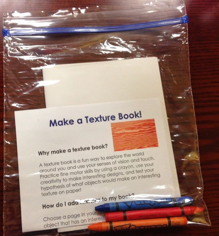 Abby the Librarian: Science Activity Packs: Texture Book