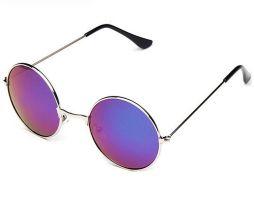 Moderné vintage polarizované slnečné okuliare - zelené