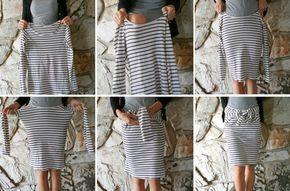 DIY vêtements marinière jupe