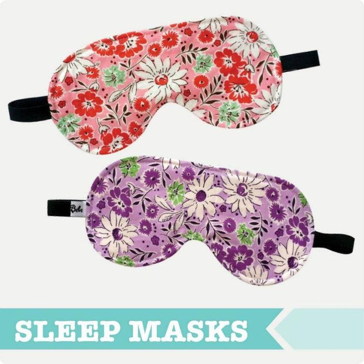 This free sewing pattern is the adult sleep eye mask.  This pattern is a very quick sew so whip some up for your friends and family too!