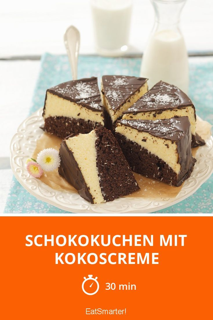 Schokokuchen mit Kokoscreme - smarter - Zeit: 30 Min. | eatsmarter.de