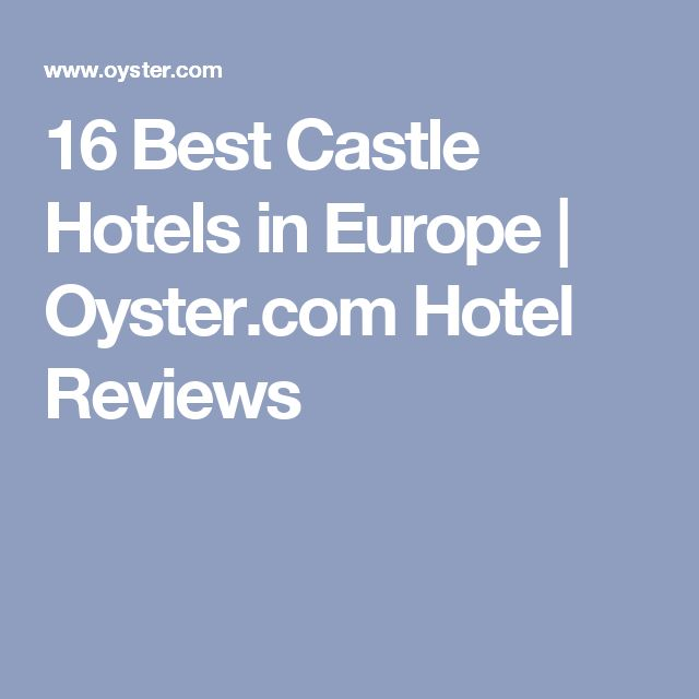 16 Best Castle Hotels in Europe | Oyster.com Hotel Reviews