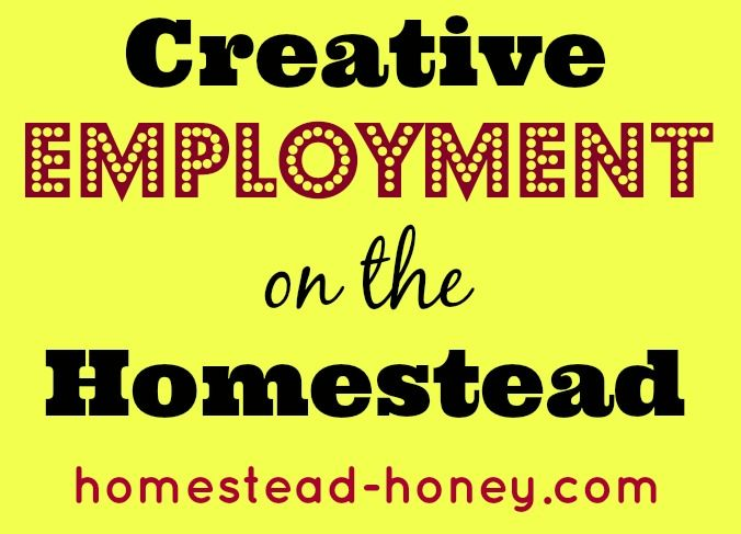 Financial Realities of Homesteading: Creative Employment