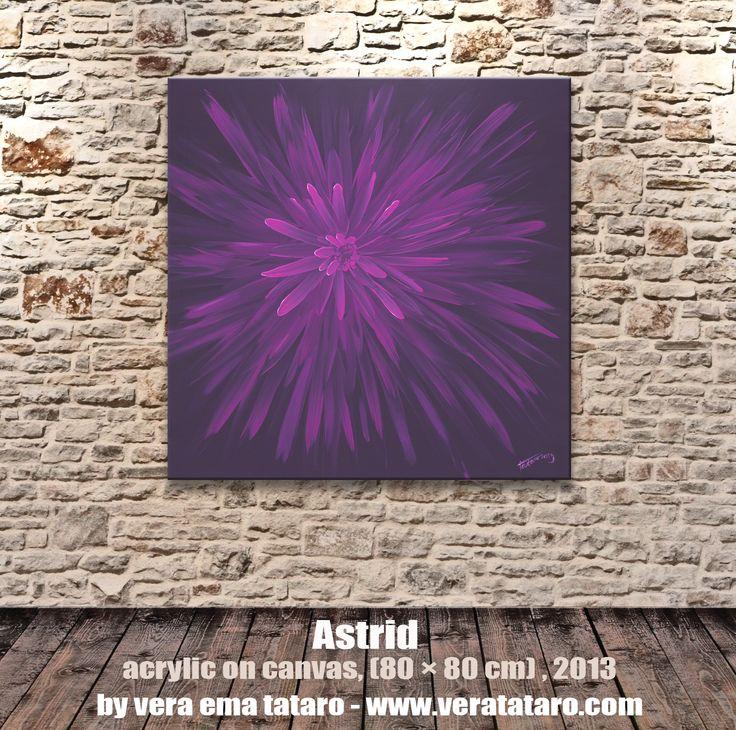 Astrid - acrylic painting on canvas by Vera Ema Tataro
