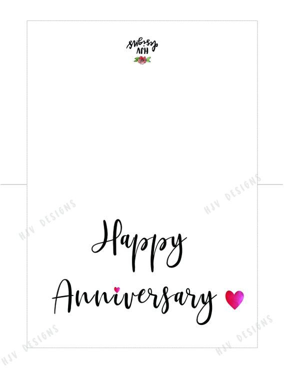 Happy Anniversary Printable Card Simple Black And White Hand Lettered Anniversary Card Instant Download I Love You Print Yourself Card In 2021 Happy Anniversary My Love Happy Anniversary Cards Happy Anniversary