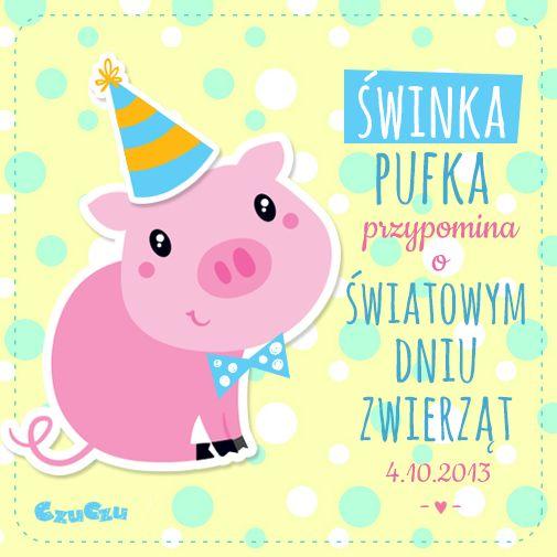 Świnka Pufka przypomina o Światowym Dniu Zwierząt :)