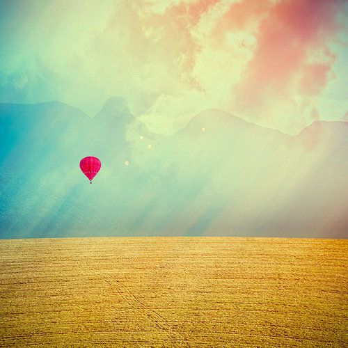 To fly in a hot air balloon ...:)