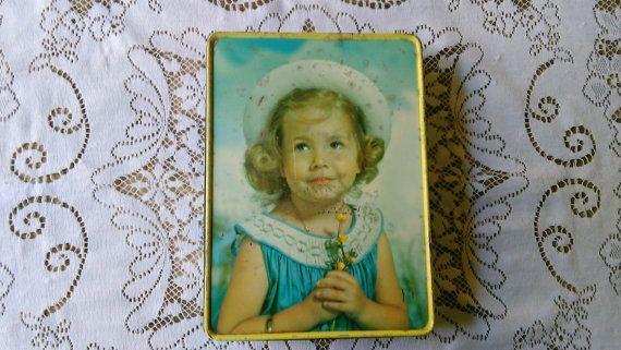 Vintage+Biscuit+Tin+da+collezione+Tin+Meredith+e+di+AtticFantastic