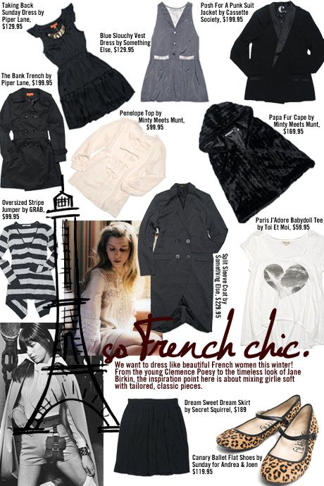 dressing like a french woman   We want to dress like beautiful French women this winter! From the ...