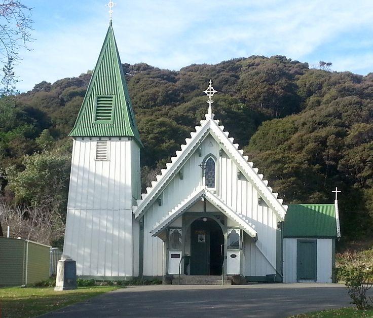 St Patricks Catholic Church, Akaroa, Canterbury, New Zealand, built 1865 and still in use today.