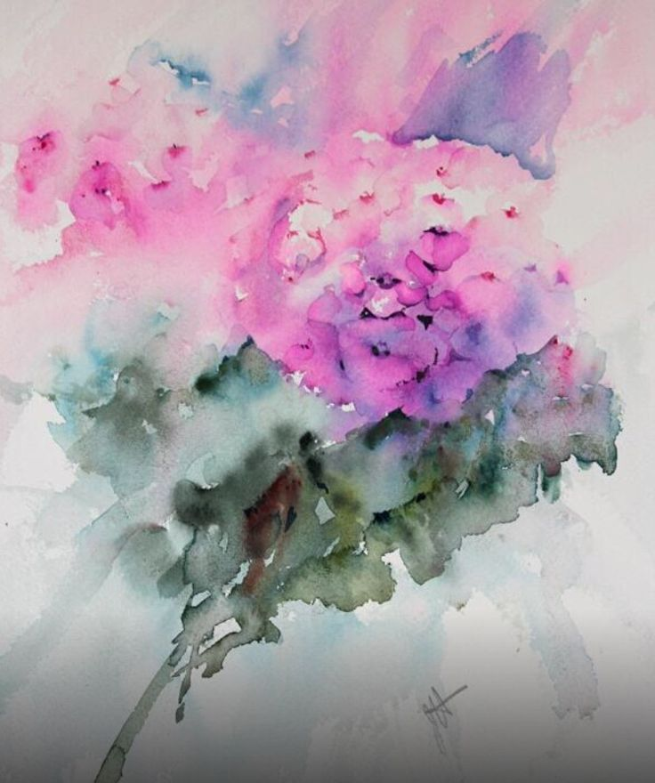 Jean haines watercolor http www for Abstract watercolour flowers