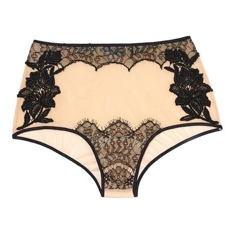 Black High Rise Brief #AkikoOgawa. #Lingerie #2016AW #FLOURISH www.aolingerie.com