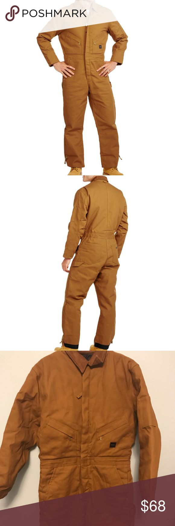 Walls Men's Insulated Duck Coverall Walls Men's Insulated Duck Coverall: Features a durable duck shell with a water-repellent finish. It also has taffeta lining and a fiberfill insulation. The handy storage pocket on the left chest has a hook and loop closure so you can keep small items secure. This Walls coverall also comes with two zippered chest pockets, as well as front swing pockets and two back patch pockets. The durable design includes triple-needle stitching on all construction…