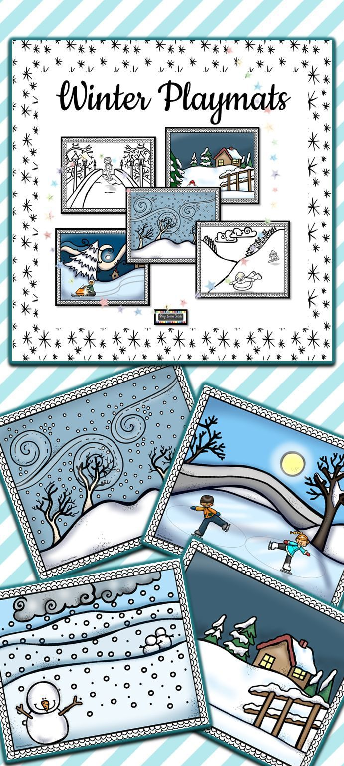 Winter Playdough Mats are a great addition to your fine motor and art centers. These winter playmats provide a base for fun fine motor activities in your preschool, kindergarten, or special education classroom. #preschoolactivities #finemotor