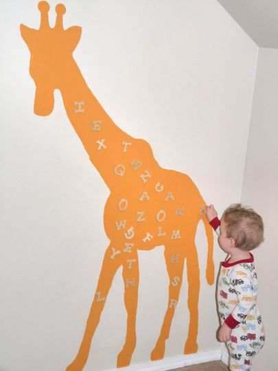 Love magnetic paint. What a great idea. Would love to do something like for the playroom and Penny's room.