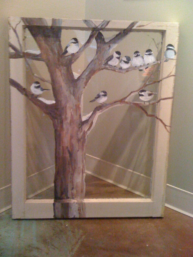 Black Capped Chickadees on a Winter Day! Are they really there--right outside the window? Casts a beautiful shadow!